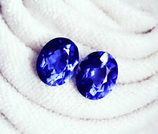 Loose Gemstone 9 to 10 Cts Natural Tanzanite Pair Certified Best Offer