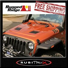 Rugged Ridge 17759.01 Black Performance Vented Hood Fits 07-17 Jeep Wrangler(JK)