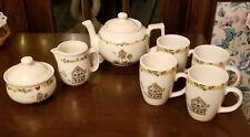 Thomson Pottery * Birdhouse* Coffee Tea Hot Chocolate Set: Pot Cup Sugar Creamer