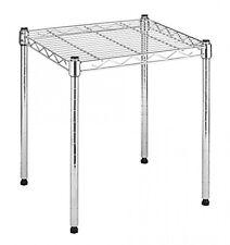 Whitmor Supreme Stacking Shelf, Small, Storage Organizer, Chrome, 6054-584, New