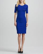 BNWT DVF Diane von Furstenberg Raquel Half-Sleeve Sheath Dress Blue P, XS  $175