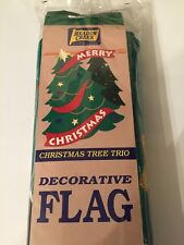 "Meadow Creek Merry Christmas Decorative Flag Handcrafted Unopened 28"" x 40"""