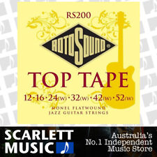 Rotosound RS200 Top Tape Monel Flatwound Electric Guitar String ( 12-52 )