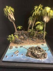 1/35 diorama bloody tawara pacific war verlinden #1914 Master painted w/palm