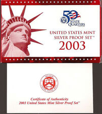 2003 SILVER PROOF SET - DCAM Coins- Complete Set With Box & COA - FREE SHIPPING