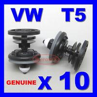 T5 DOOR PANEL CARD TRIM CLIPS INTERIOR BLACK PLASTIC WHITE TIP PLASTIC & T6 X 10