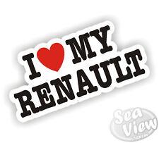I Heart Love My Renault Clio Megane Laguna Concept Trafic Car Van Sticker Decal