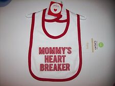 Carter's Bibs Unisex Baby Little Collection Mommy's Heart Breaker Holiday Red