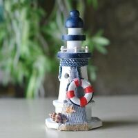 Mediterranean Wooden Lighthouse Nautical Home Decor Christmast Thanksgiving Gift