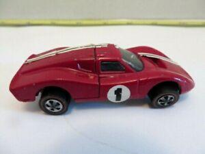 Vintage Redline Hot Wheels Race Car Ford MK lV Enamel Burgundy Red 1960s