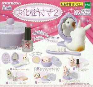Epoch Capsule toys Gashapon Little Rabbit Make up Cosmetic Part 2 Full set 6 pcs