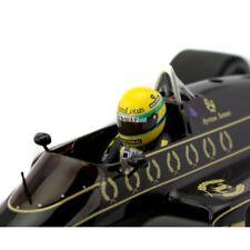 1:12 Decal Sticker Ayrton Senna helmet JPS Lotus 97T 98T 99T visor suit RC 1:10