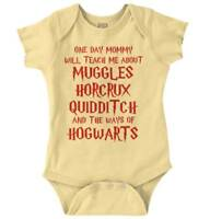 One Day Nerdy Mommy Teach Me Wizards Magic Newborn Romper Bodysuit For Babies