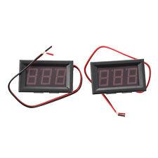 2 LED rosso Digital Mini voltmetro tester di volt Pannello 4.5-30V E6X7