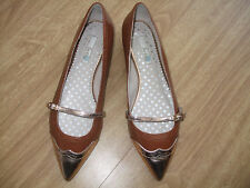BODEN GOLD TIP LEATHER FLATS   SIZE 42==8.5 BNWOB