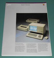 Vintage 1984 APPLE LISA COMPUTER System Overview Brochure Apple II & III ProFile