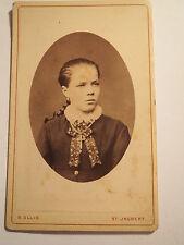 St. Ingbert - schönes Mädchen mit Zopf - Portrait / CDV