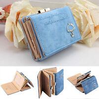 Fashion Women PU Leather Wallet  Button Clutch Purse Lady Short Handbag Bag
