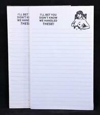 """Two (2) Adult Humor """"I'll Bet You Did'nt Know"""" 50 Sheet Write-On Tablets. 12382"""