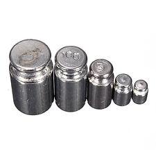 5Pcs 1g 2g 5g 10g 20g Grams Precision Chrome Calibration Scale Weight Set Kit