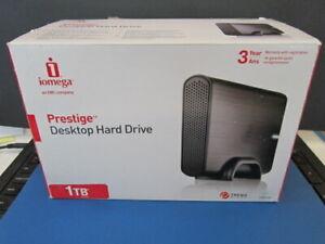 iomega Prestige 1 TB External HDD 3.5  Drive for PC/Mac 7200 RPM
