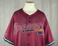 Majestic Atlanta Braves Mesh Baseball Jersey Sz XL Mens