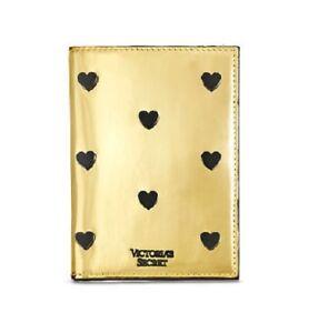 NWT in Plastic~ Victoria's Secret Pop Heart Metallic Gold Passport Cover