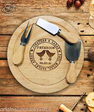 Placa de queso de regalo personalizado y juego de cuchillo. regalo de bodas, regalo de aniversario.