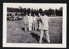 Antique Photograph Man Taking Picture With Camera of Men Wearing Suits in Field