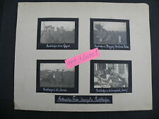 Pagina di un album di foto: caccia-aviatori Manfred di Richthofen al fronte nel 1.wk