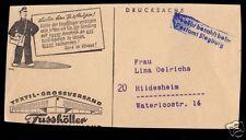 Briefstück, Stempel, Gebühr bezahlt beim Postamt Siegburg, um 1953