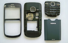 Full Blue Housing Cover Facia Fascia Faceplate case for nokia C3