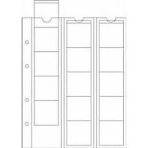 10 feuilles LEUCHTTURM OPTIMA 42, pour ranger 150 pièces d'un Ø jusqu'à 42mm