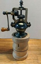 Handcrafted Antique Style Old Fashioned Pepper Mill Grinder Ambrosia Maple