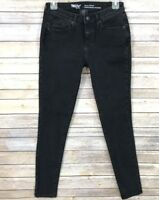 Mossimo Womens Jeans Black Denim Size 0 R W 25 Curvy Skinny Power Stretch 31""