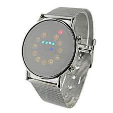 Luxury Stylish Leather Men Watches LED Light Stainless Steel Fashion Wrist Watch