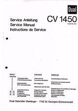 Dual Service Manual Pour CV 1450