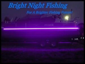 26 ft UV LED Strip Black Light Night Fishing Ultraviolet Boat 12v DC BLACK PCB