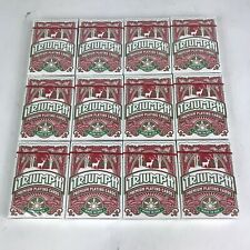 12 Pack Triumph Playing Cards Deck Standard/Poker Size Linen Casino Red Holiday