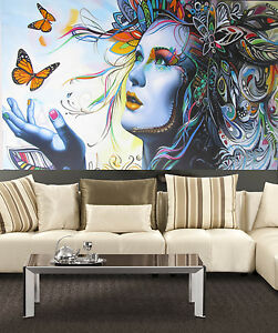 A0 size canvas print Urban princess modern girl art Australia painting
