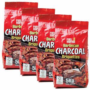Barbeque Charcoal Briquettes BBQ 5KG Bag Fuel Express Coal Long Burning Fuel