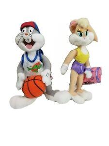 Space Jam Bugs Bunny and Lola Plush 1990's