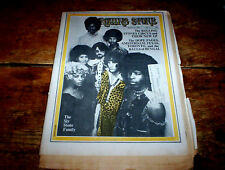 1970 SLY & THE FAMILY STONE cover ROLLING STONE magazine # 54 w/ R&R CIRCUS vg++