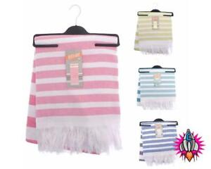 STRIPED EGYPTIAN COTTON WRAP AND TOWEL BATH JUMBO SIZE NEW WITH TAGS