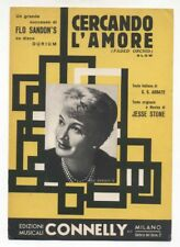 Spartito CERCANDO L'AMORE Flo Sandon's Jesse Stone 1959 Sheet music