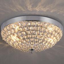 Modern Crystal Ball Beads Ceiling Light LED Pendant Lamp Chandelier Fixtures US