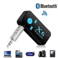 X6 Wireless Bluetooth USB Receiver 3.5mm Audio Jack Speaker L1C0 For Car TF V7I4