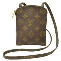 Louis Vuitton Pochette Secret M45484 Monogram Shoulder Pouch Bag Case Brown LV