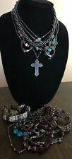 Vintage Hematite Jewerly Lot Bracelets Necklaces