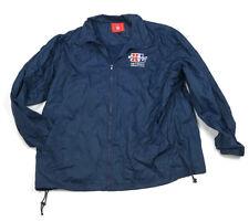 NFL Super Bowl 50 Blue Nylon Event Jacket Windbreaker 2005 Detroit Men's XXL